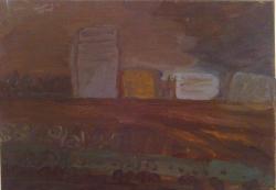 Юлия Зарецкая (Проходящий поезд, 50х70, х.м.).jpg